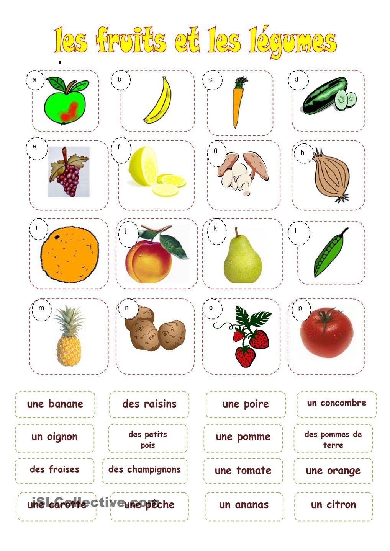 Fruits et legumes ecole pinterest fruit l gumes et exercices - Difference fruit et legume ...
