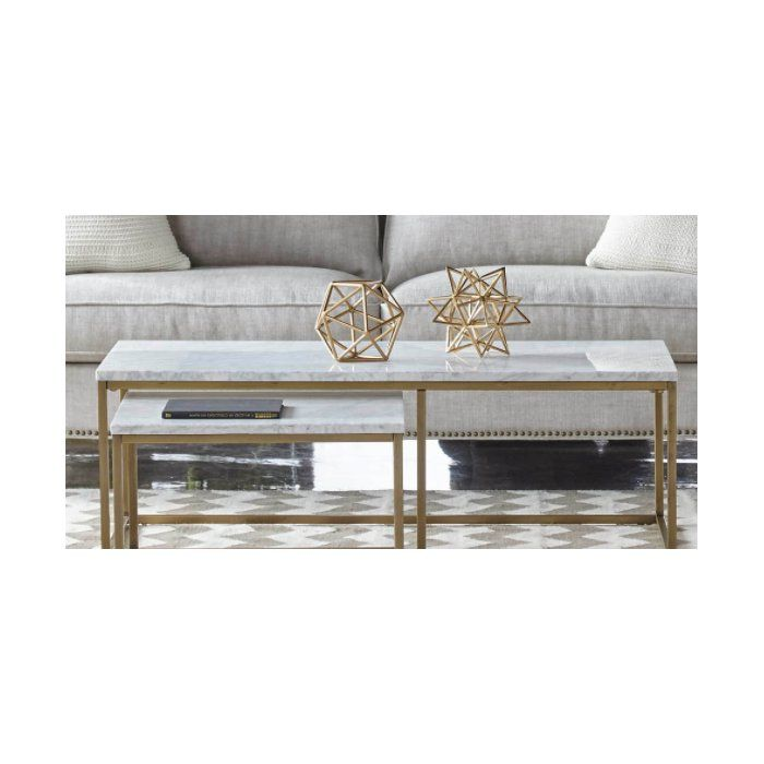 Best Brookby Place 2 Piece Coffee Table Set Nesting End 400 x 300