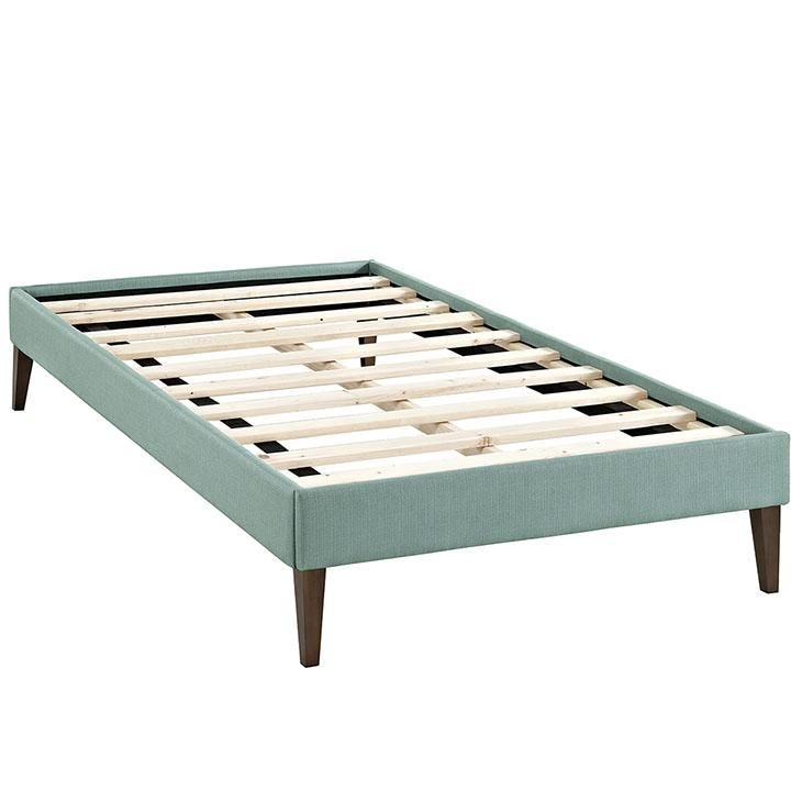 Best Sharon Twin Fabric Bed Frame With Squared Tapered Legs Wl 640 x 480