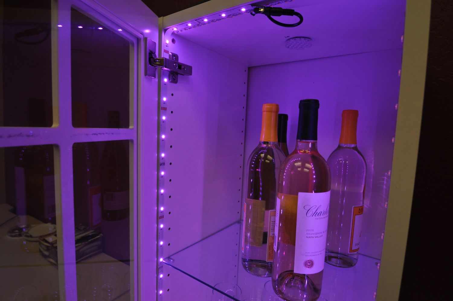 inspired led lighting. In-Cabinet Accent Lighting- RGB Color Changing LED Flexible Strips By Inspired LED; LEDs Hidden Door Frame When Is Closed Led Lighting