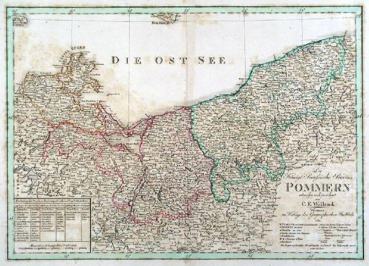 Pommern Karte Die Koniglich Preussische Provinz Pommern