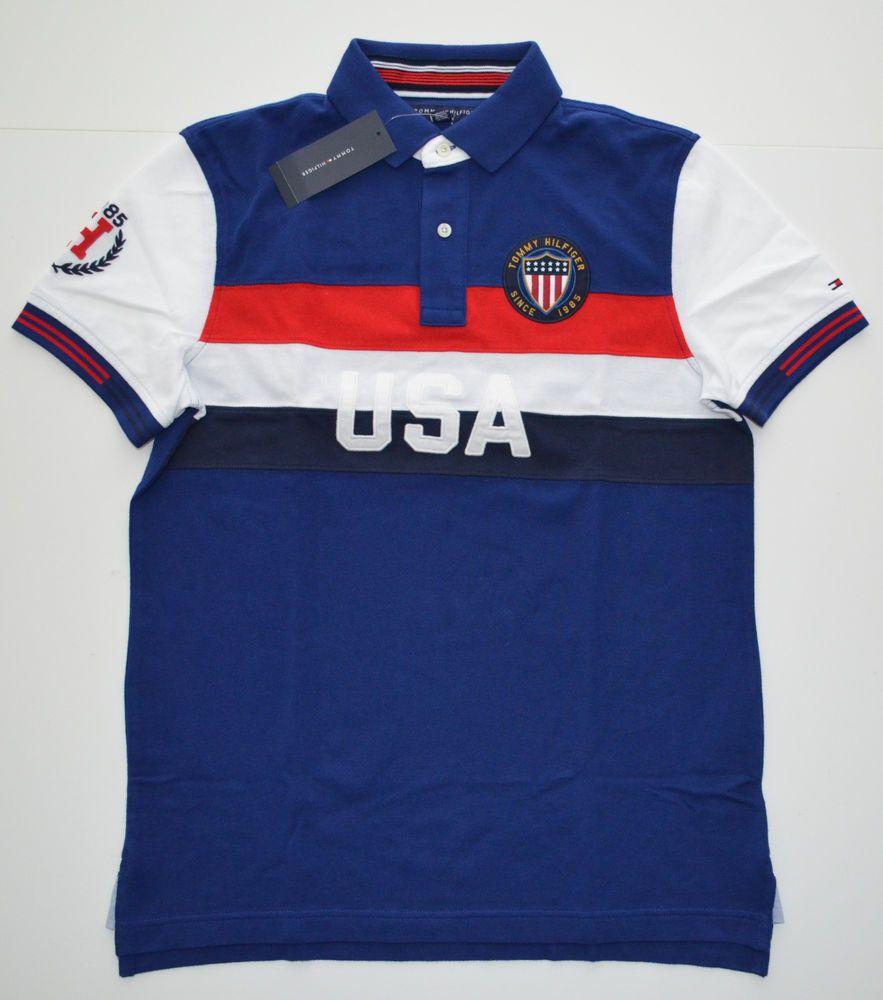Scongelare, scongelare, scongelare discorso elevazione  NEW Men's Tommy Hilfiger Short-Sleeve USA Polo Shirt, Blue, Red, White S M  L XL | Moda para niñas, Moda, Niños