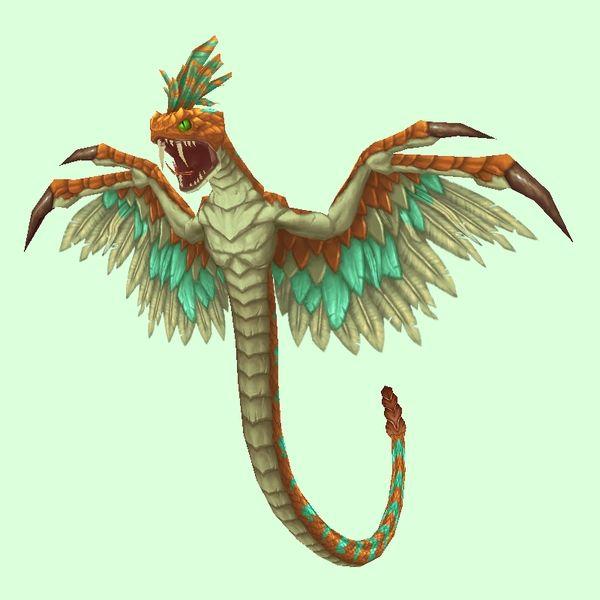 Orange Wind Serpent Pets, Serpent, Wind