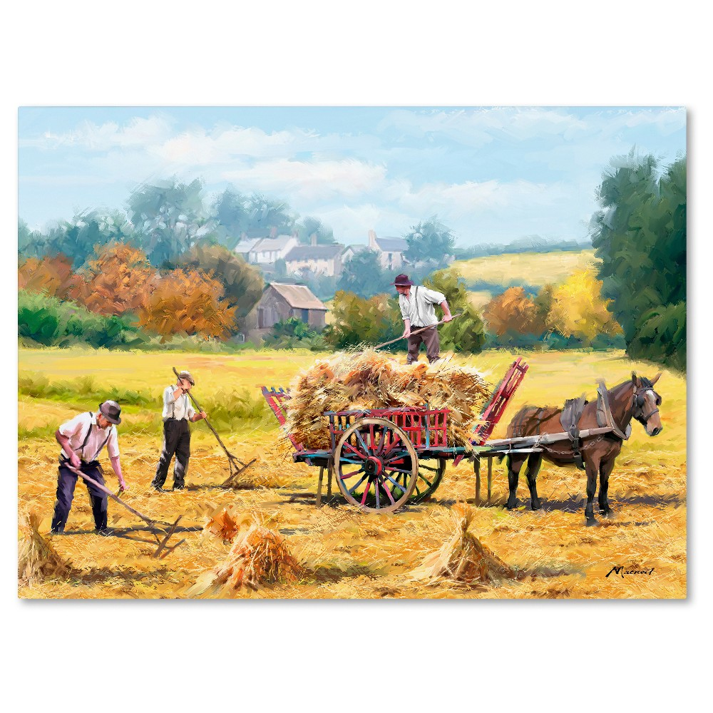 Hay Making\' by The Macneil Studio Ready to Hang Canvas Wall Art ...