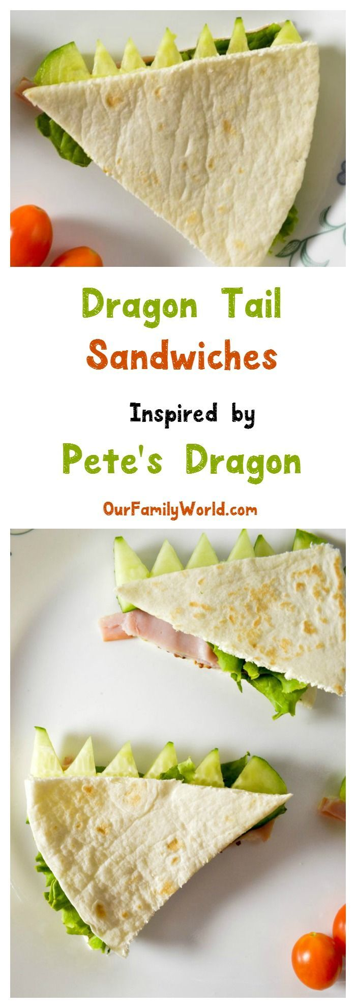 To Celebrate The Release Of Pete S Dragon Back School Season We Made This Clever Little Tails Flatbread Sandwich Recipe For Kids Check It Out