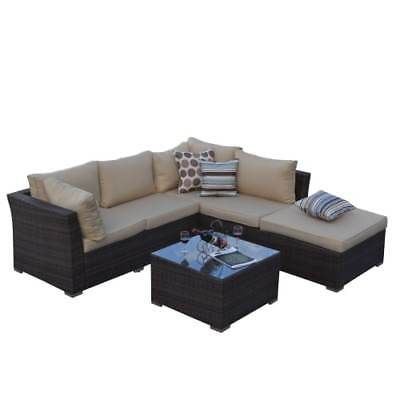 Delacora Bas 2513 Rustic Dark Brown 5 Piece Aluminum