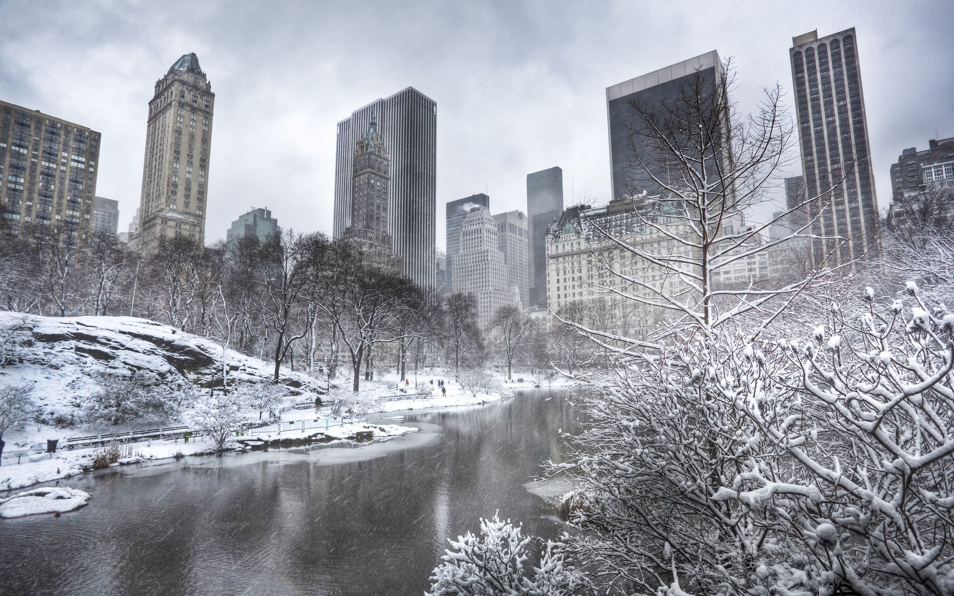 Central Park Manhattan New York City Winter Central Park Manhattan Winter Wallpaper Central Park