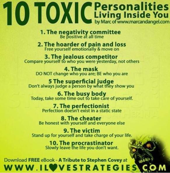 Toxic personality traits