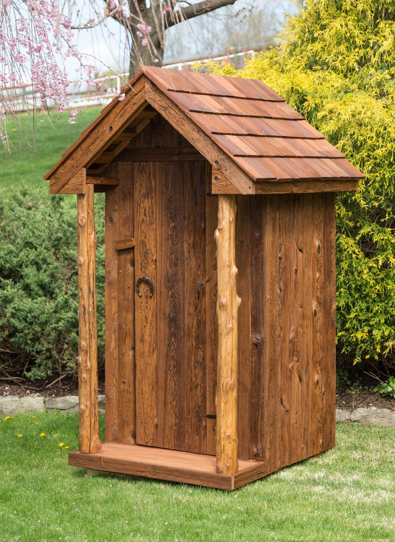 Shed amish handmade amish outhouse garden tool shed the