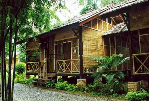 House this philippines modern bamboo house is a restful for Wood house design philippines