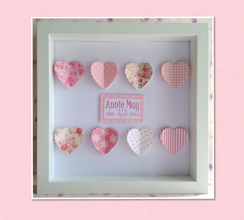 Personalisierte Herz-Rahmen: Geschenk für kleine Mädchen oder ...
