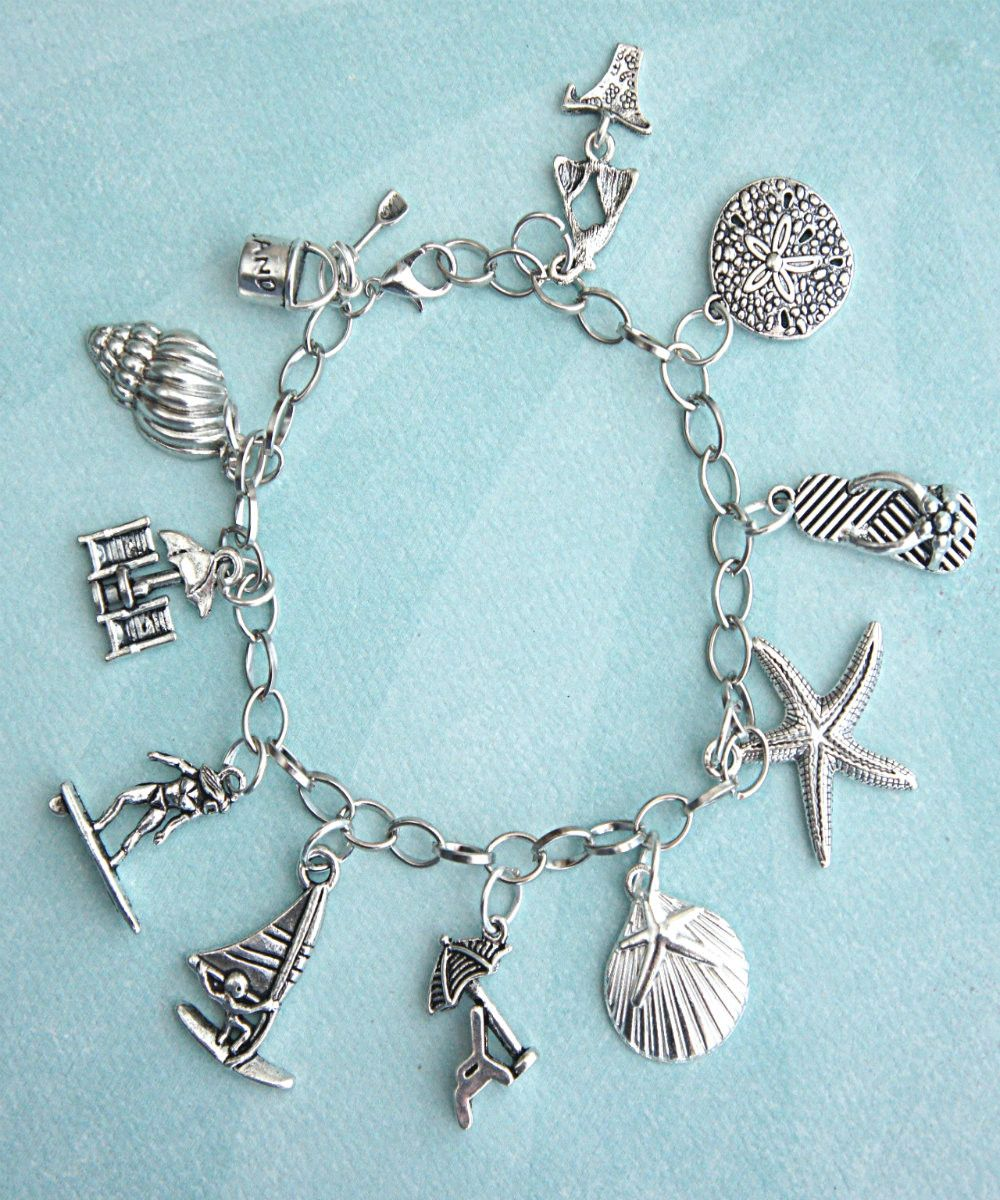 sea starfish wire memory pin lover glass beach girl bracelet
