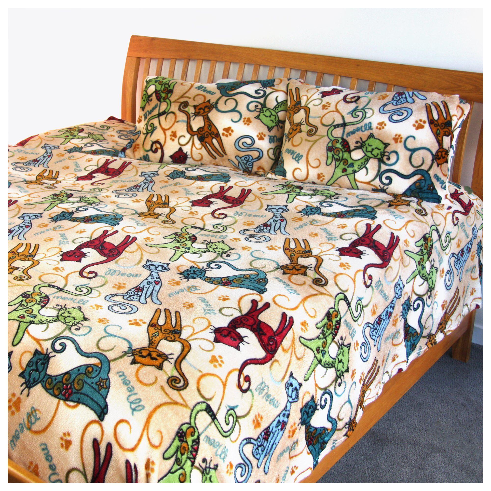 Super Cozy™ Fleece Festival Cats Blanket Cat blanket