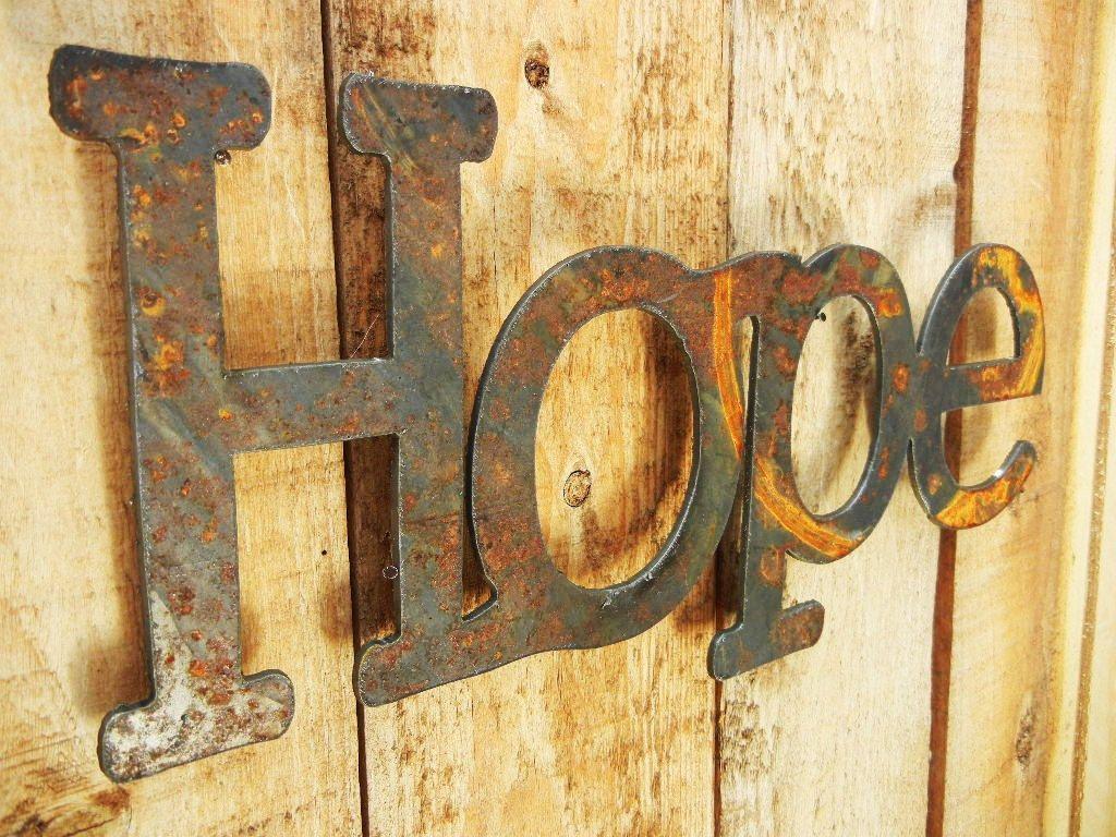 Metal Word Art Hope Metal Word Art For Indoors Or Outoors  Word Art