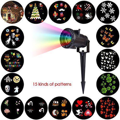 15 patterns slides LED Projector Light for Halloween christmas