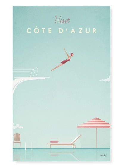 Cote D' Azur by Henry Rivers (Canvas) by Curioos at Gilt