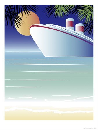 Cruise Ships Lithographs And Prints At Artcom Art Pinterest - Animated cruise ship