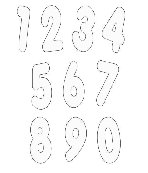 numbers clipart image 16 Шрифты и надписи Pinterest Clipart - numbers templates free