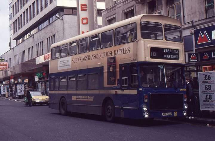 Birmingham Bus on New St..year unknown but bus registration approx 1975/6?..