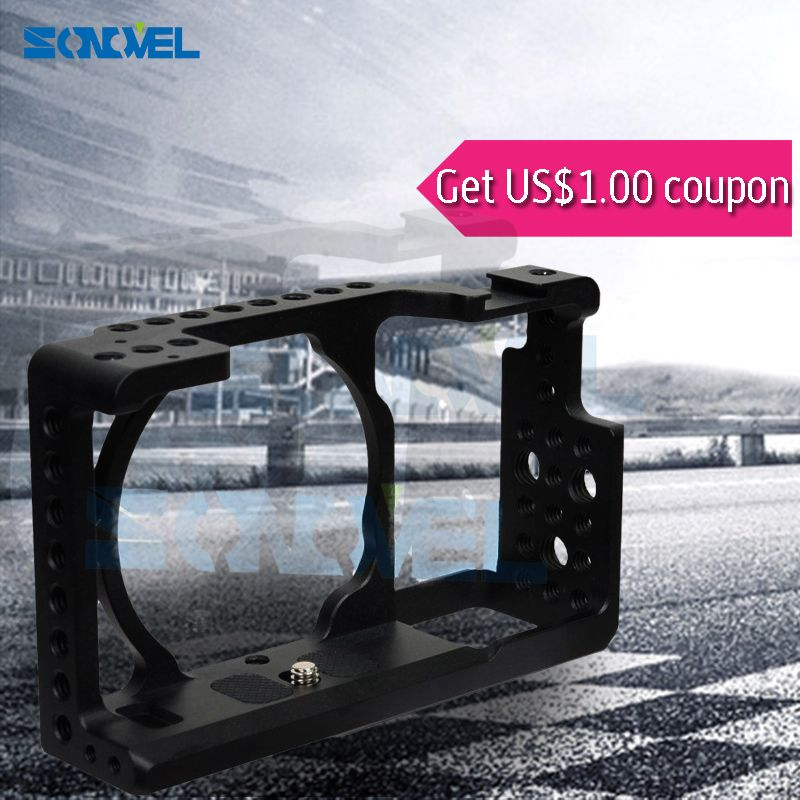 >> Click to Buy << SONOVEL Protective Video Camera Cage Stabilizer Camera Cage DSLR Rig for a6000 ICLE-6000 NEX-7 NEW  for SONY alpha a6300  #Affiliate