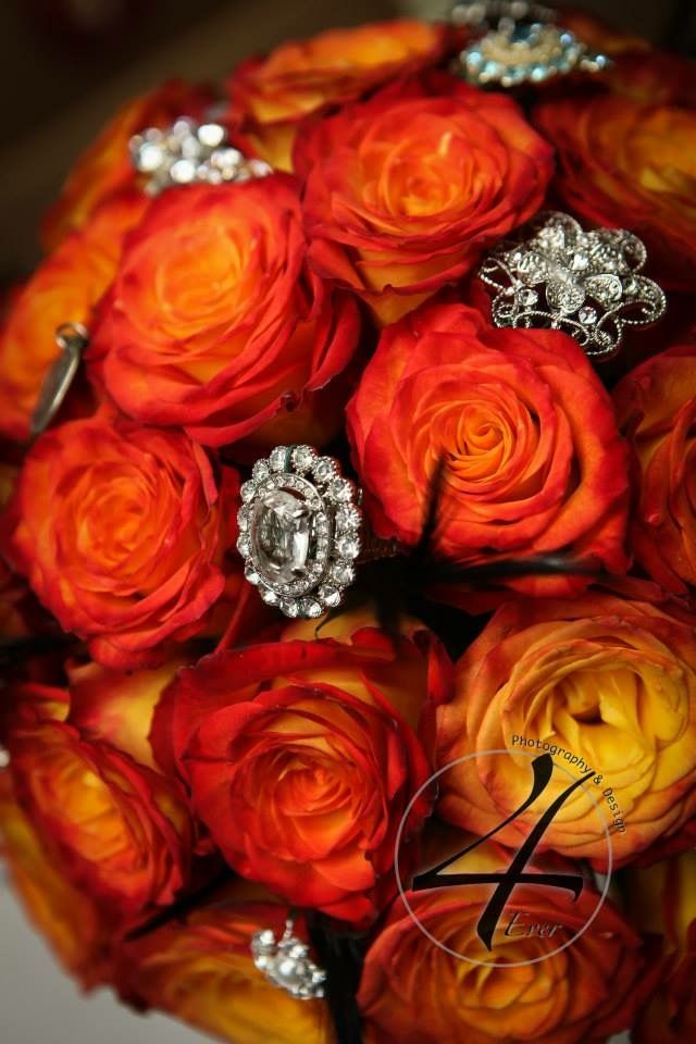 Bouquet with broaches