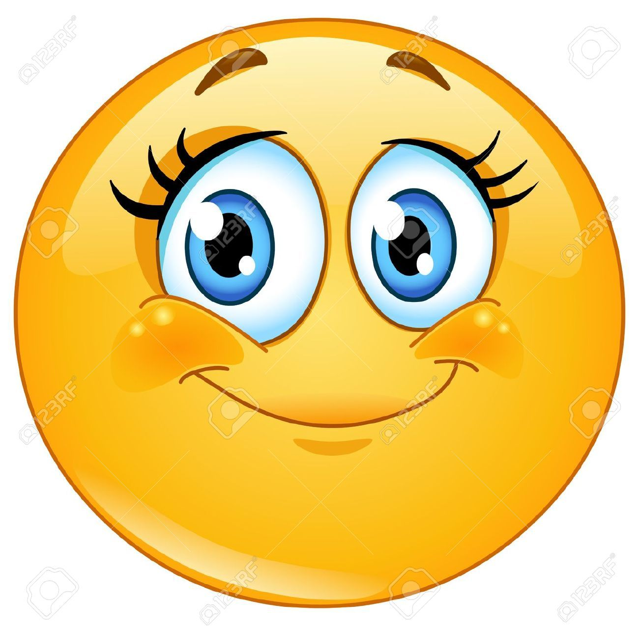 19320250 cute eyelashes emoticon stock vector smiley face emoticon rh pinterest co uk Laughing Smiley Face Clip Art Crazy Smiley Face Clip Art