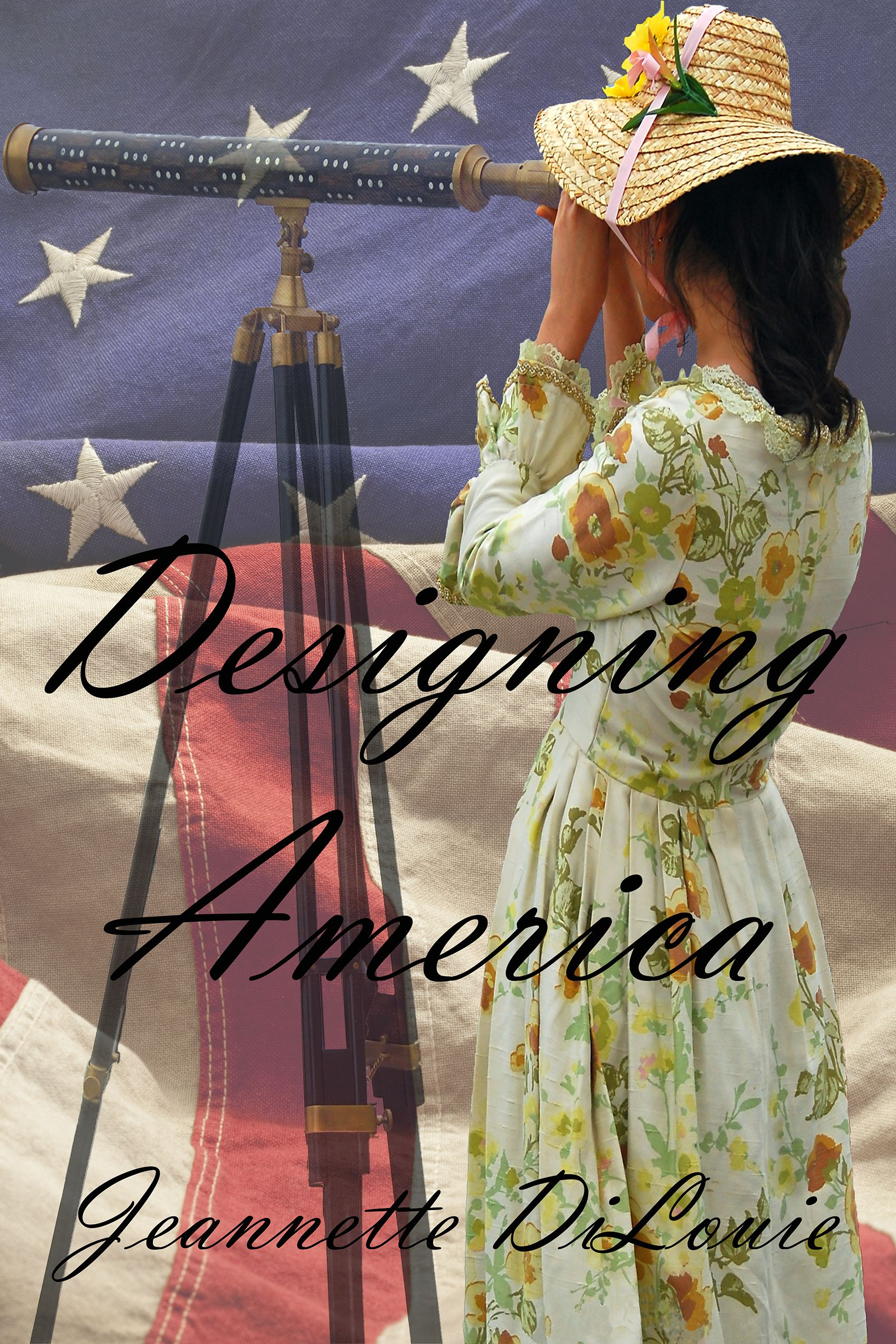 The working front cover of Designing America, out this spring!