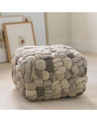 "VivaTerra Soft Stone Pouf from VivaTerra | BHG.com Shop  This looks like so much fun.  Will the puppies think the same thing, though.  ""Hey, look at the GIANT rope toy mom brought home!!""  lol"