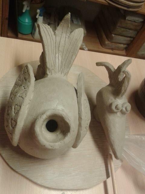keramiek #vogel #ceramic #bird Töpfern Pinterest Keramik - figuren aus ton selber machen