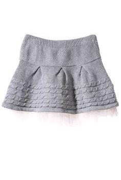 tricoter jupe en laine fille