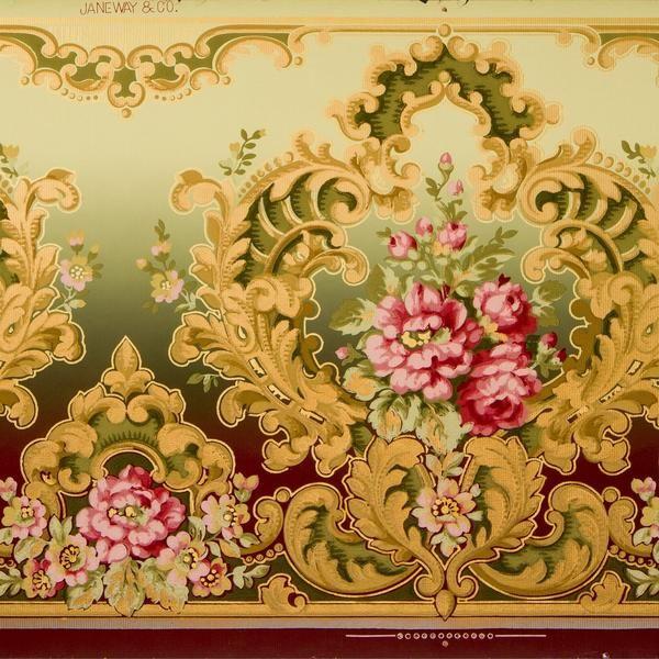 Rococo Frieze Antique Wallpaper Remnant In 2019 Original