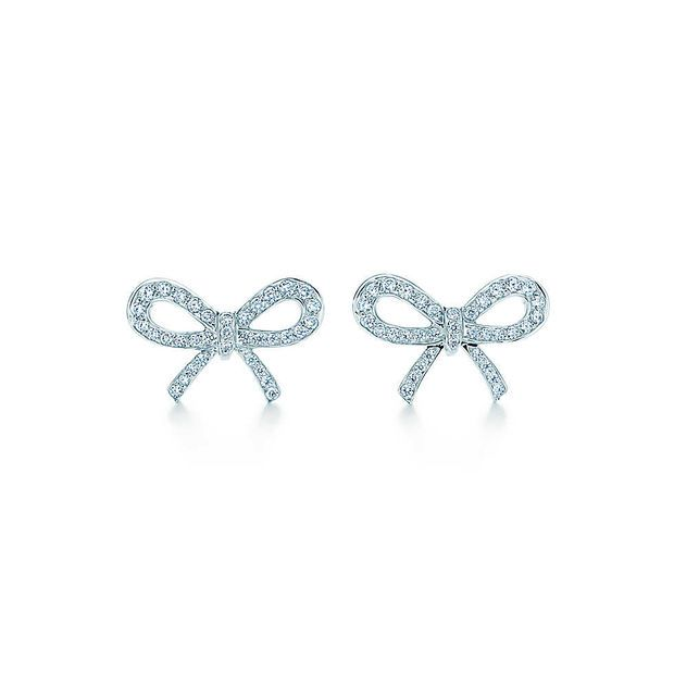 Tiffany Co Bow Earrings