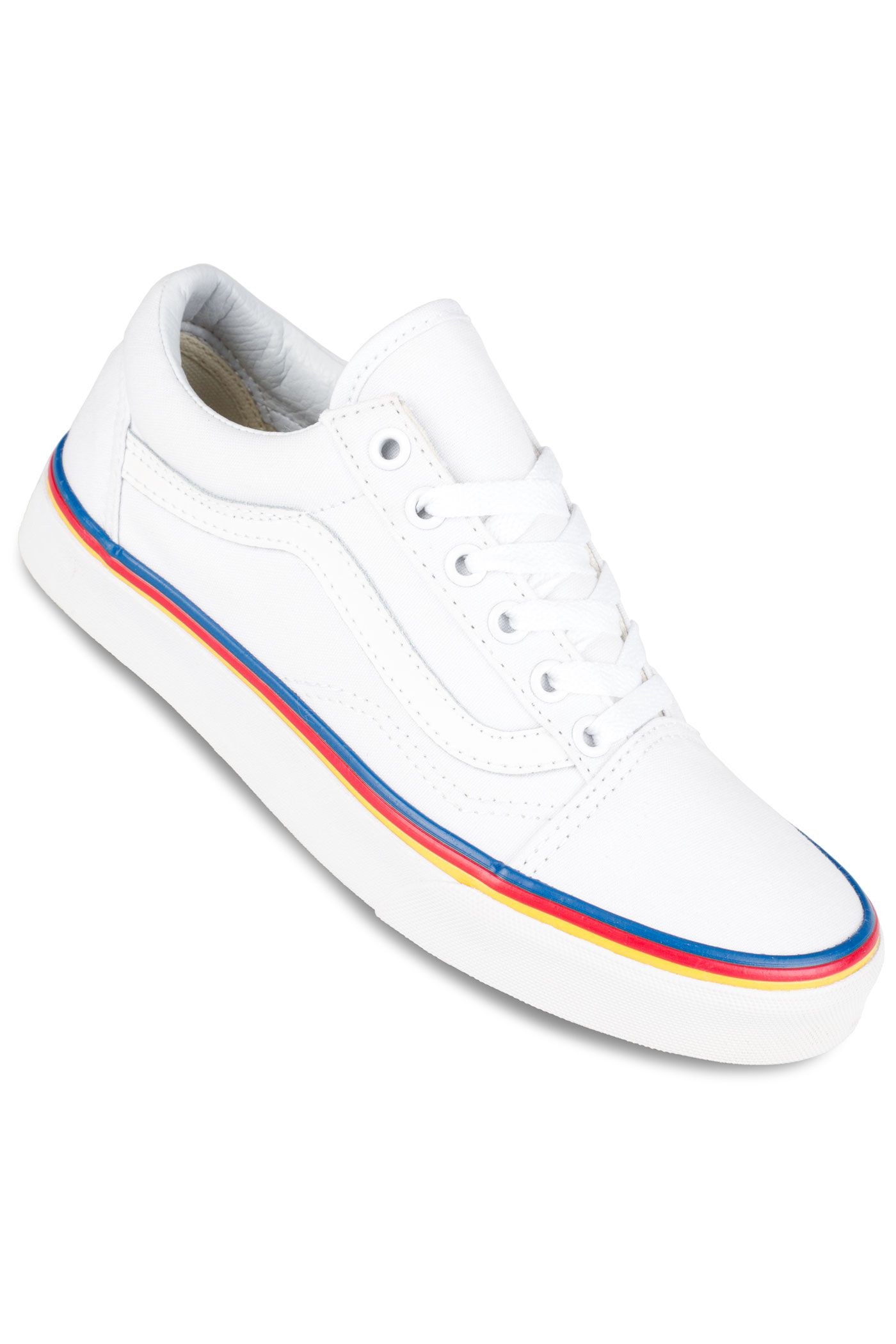 vans old skool rainbow skate shoe womens