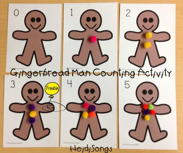 Draw The Numbered Gumdrops On Gingerbread Man