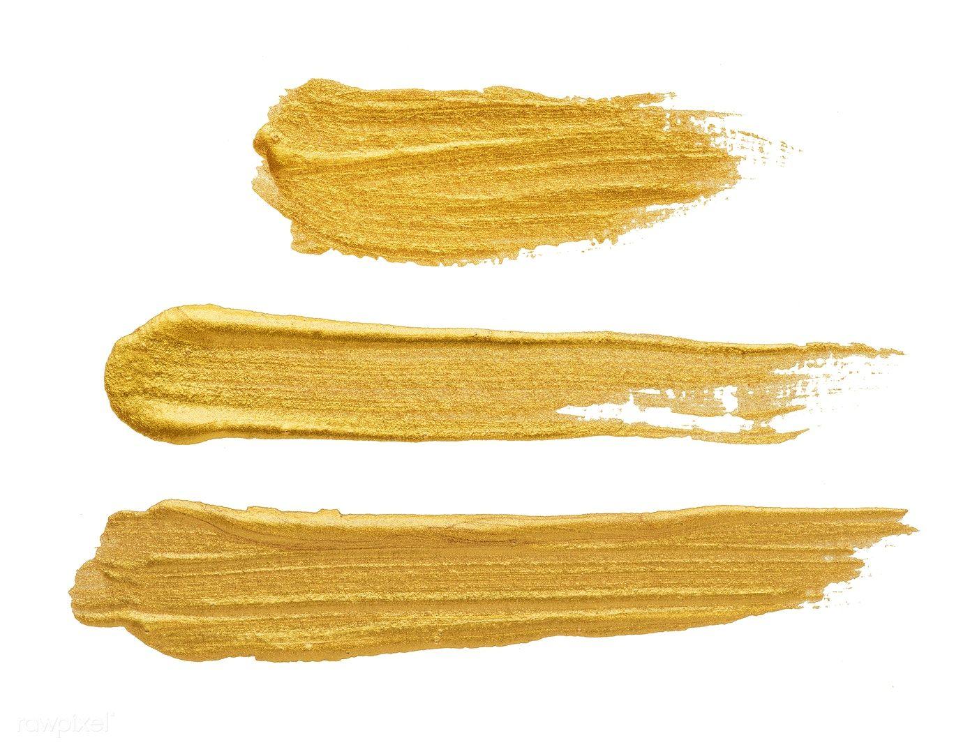 Download Premium Psd Of Golden Brush Stroke On White 552710 Brush Strokes Beige Lipstick Gold Glitter Background
