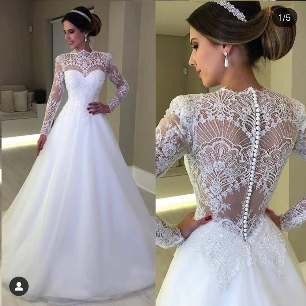 Vintage Wedding Dresses Boho White Long Sleeve Lace Applique Simple Cheap Bridal Gown Robe De Mariee In 2021 Vintage Wedding Dress Boho Boho Wedding Dress Wedding Dresses [ 1000 x 1000 Pixel ]