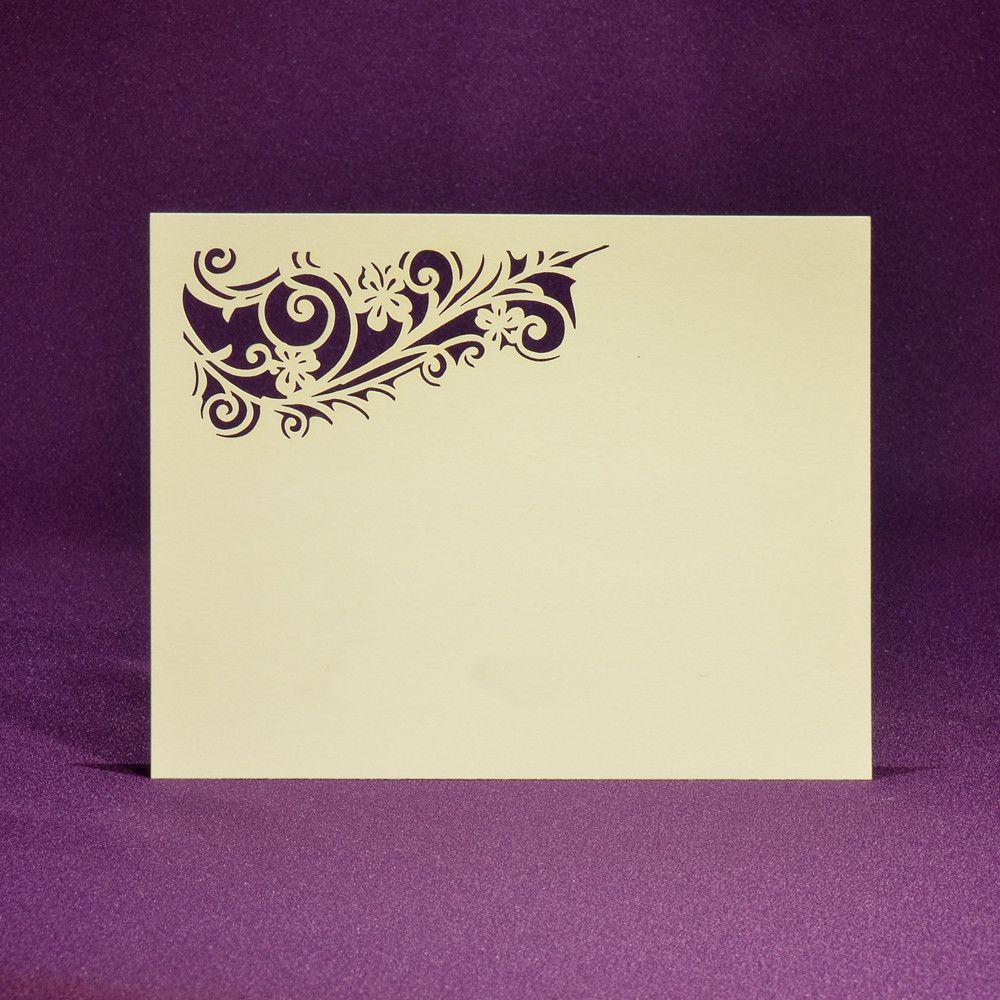 Romantica RSVP Card A2 - Blank   Paper Orchid