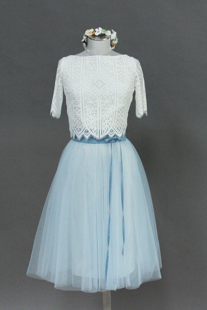 Tüllrock, kurz in Blau für die Hochzeit - Zoe in 2020 ...
