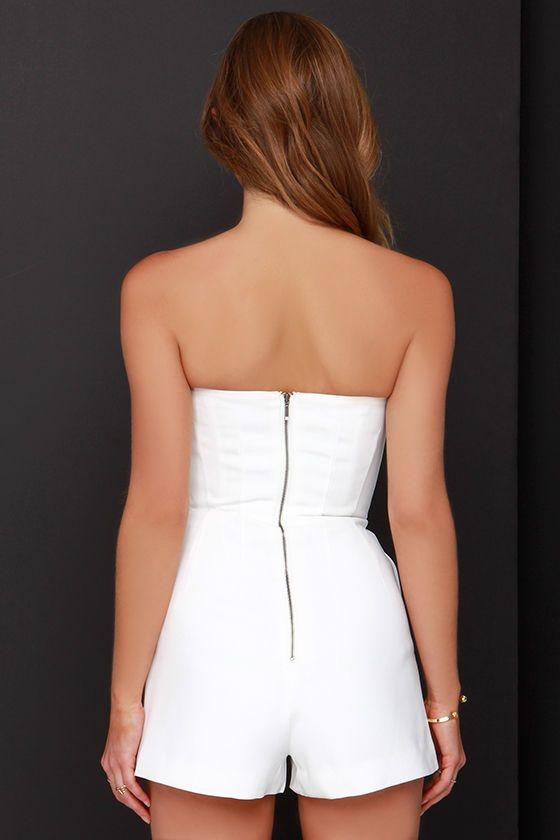 a391d02419c9 A beautiful one-piece like no other is definitely the Keepsake Symphonies  Ivory Strapless Romper with its convex