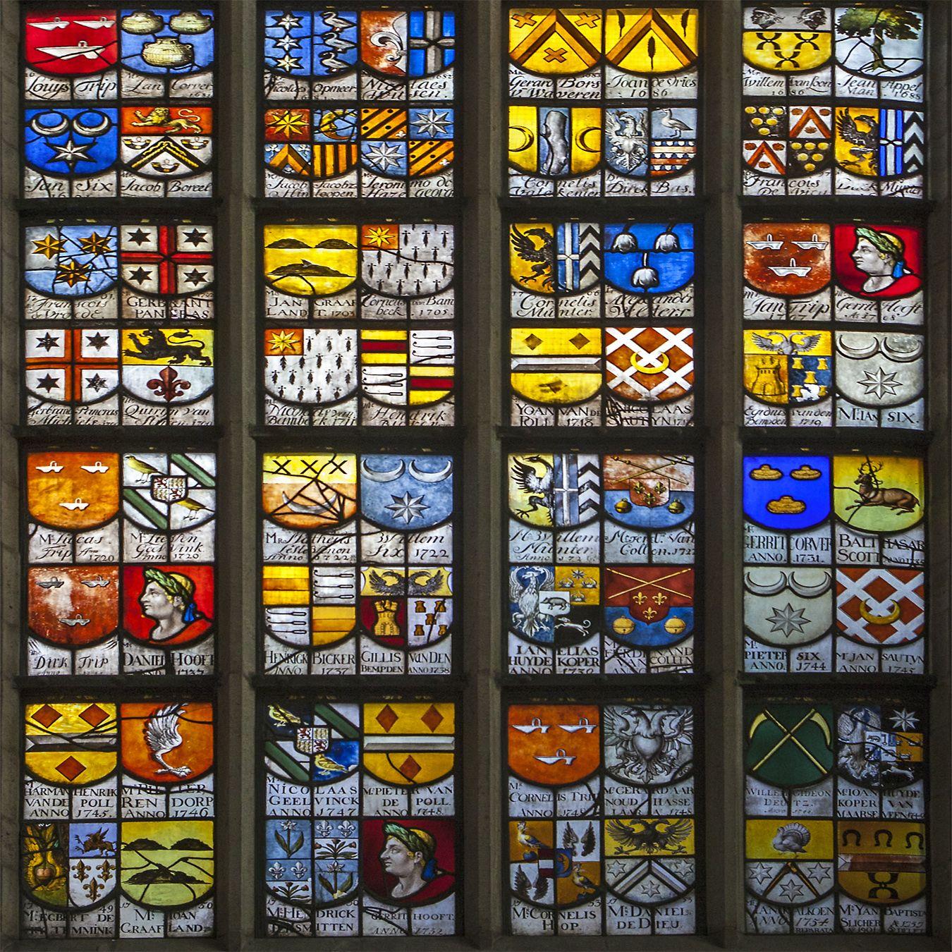 Ich bewundere die #Handwerkskunst der #Herstellung von #farbigem #Fensterglas hier die #oude #Kerk in #Amsterdam