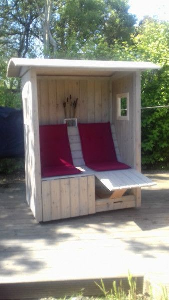 strandkorb auf rollen garten woodworking pinterest strandkorb rollen und g rten. Black Bedroom Furniture Sets. Home Design Ideas