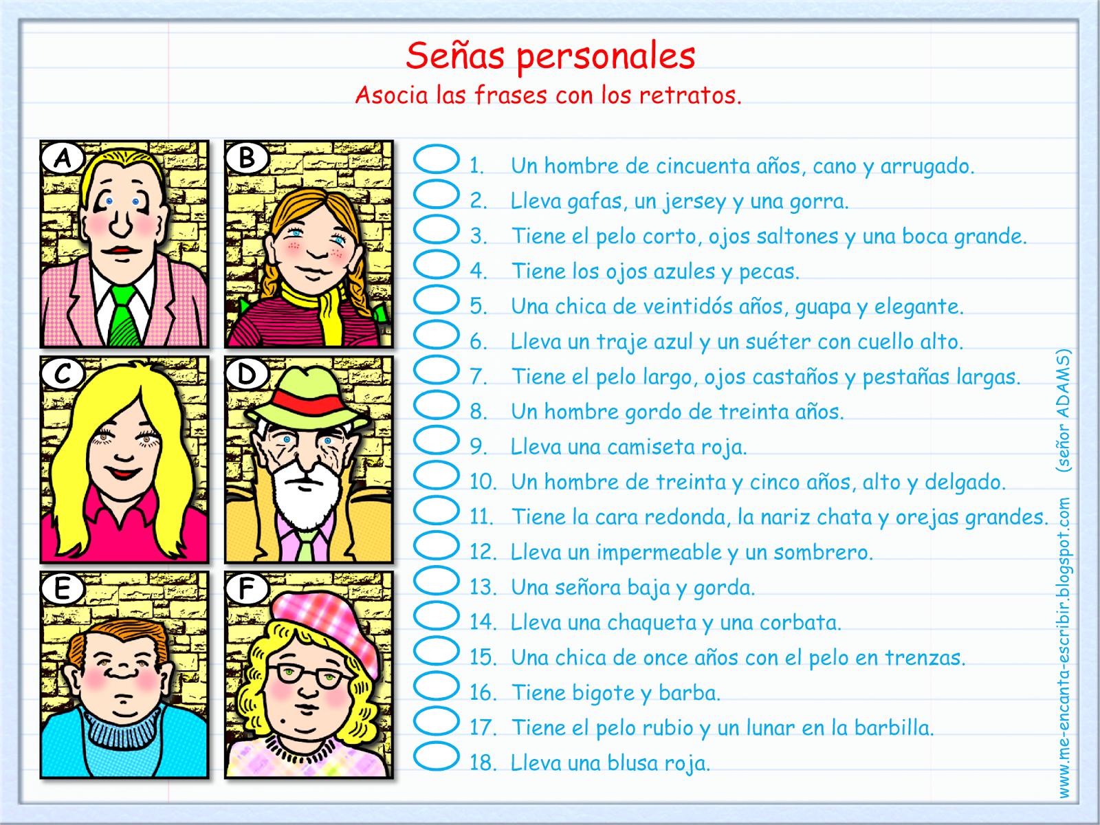 Pin By Profe W On Describing People Describir Gente