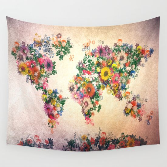 World Map Rug Ebay: Buy World Map By Bekim ART As A High Quality Wall Tapestry