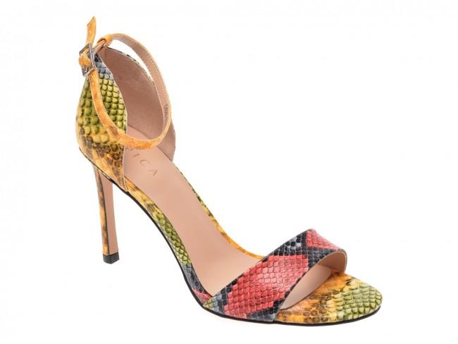 Sandale cu toc subtire pentru evenimente elegante