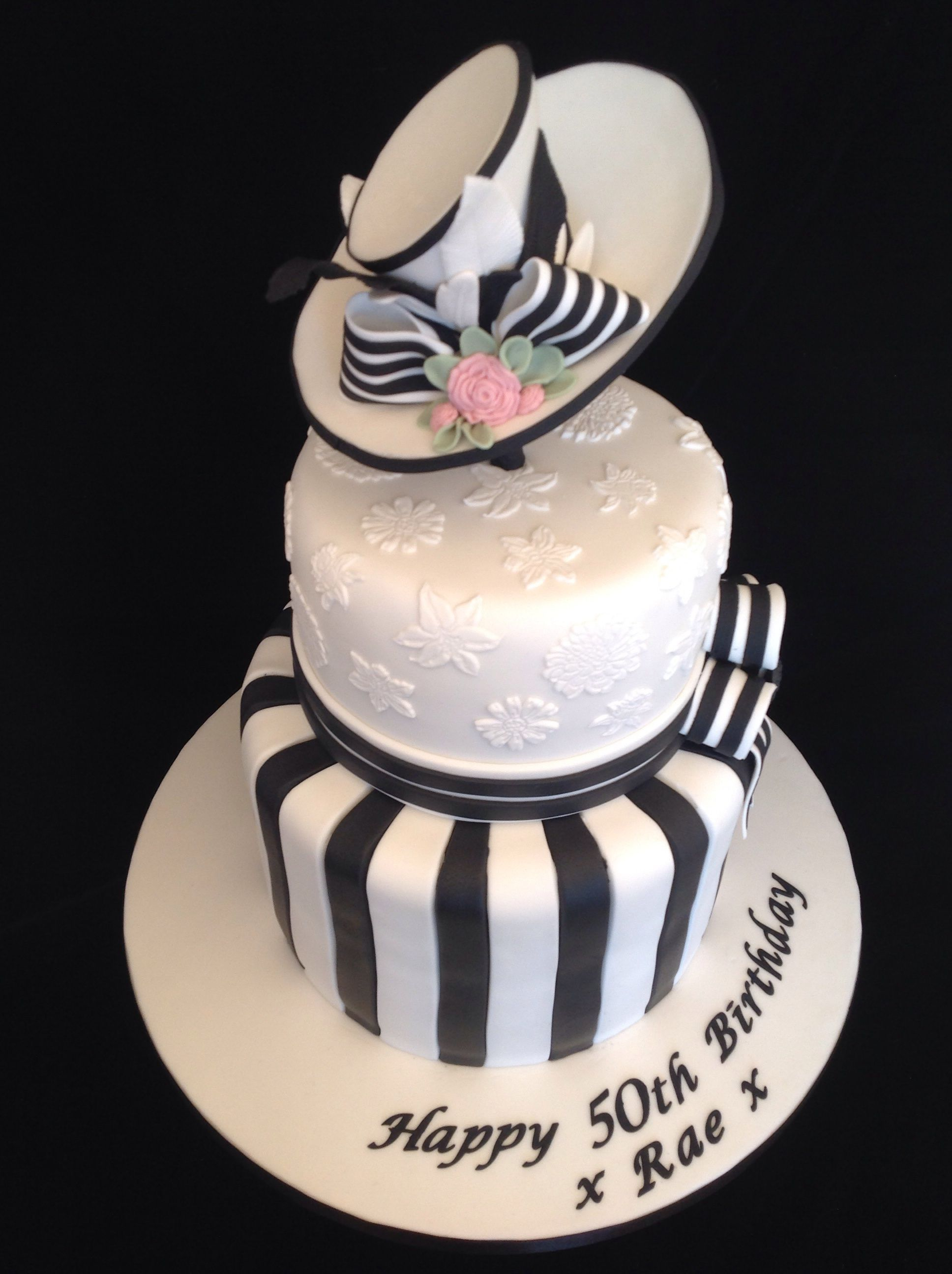 Black And White My Fair Lady Birthday Cake Birthday Cakes For