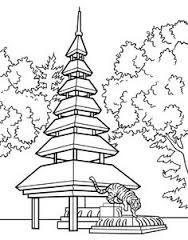 Image Result For Japanese Tea Garden Drawing