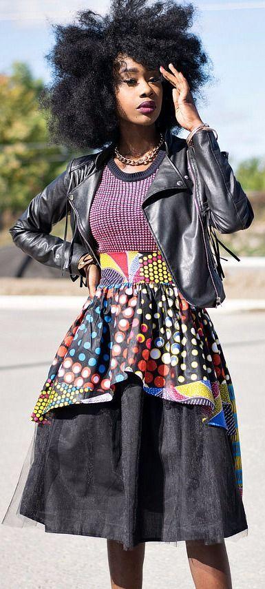 Dashki Fabric African Fashion Ankara Kitenge African: NEW Zoe Ankara African Print Fabric Skirt. Ankara