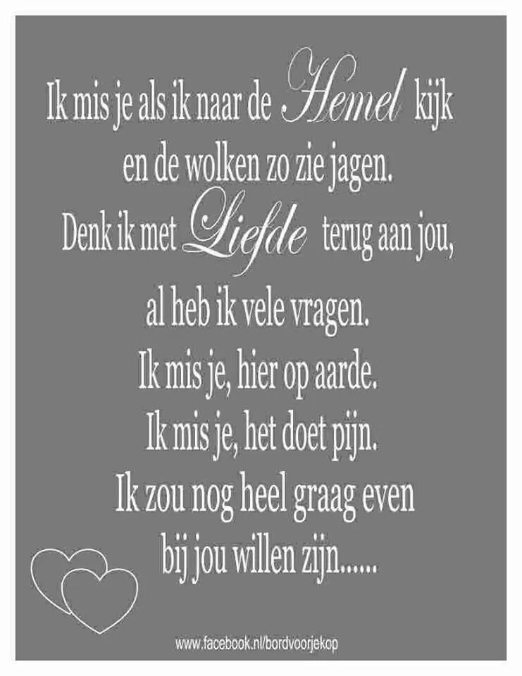 Geliefde Ik mis je zo | illustraties | Pinterest | Dutch quotes and Qoutes UC51