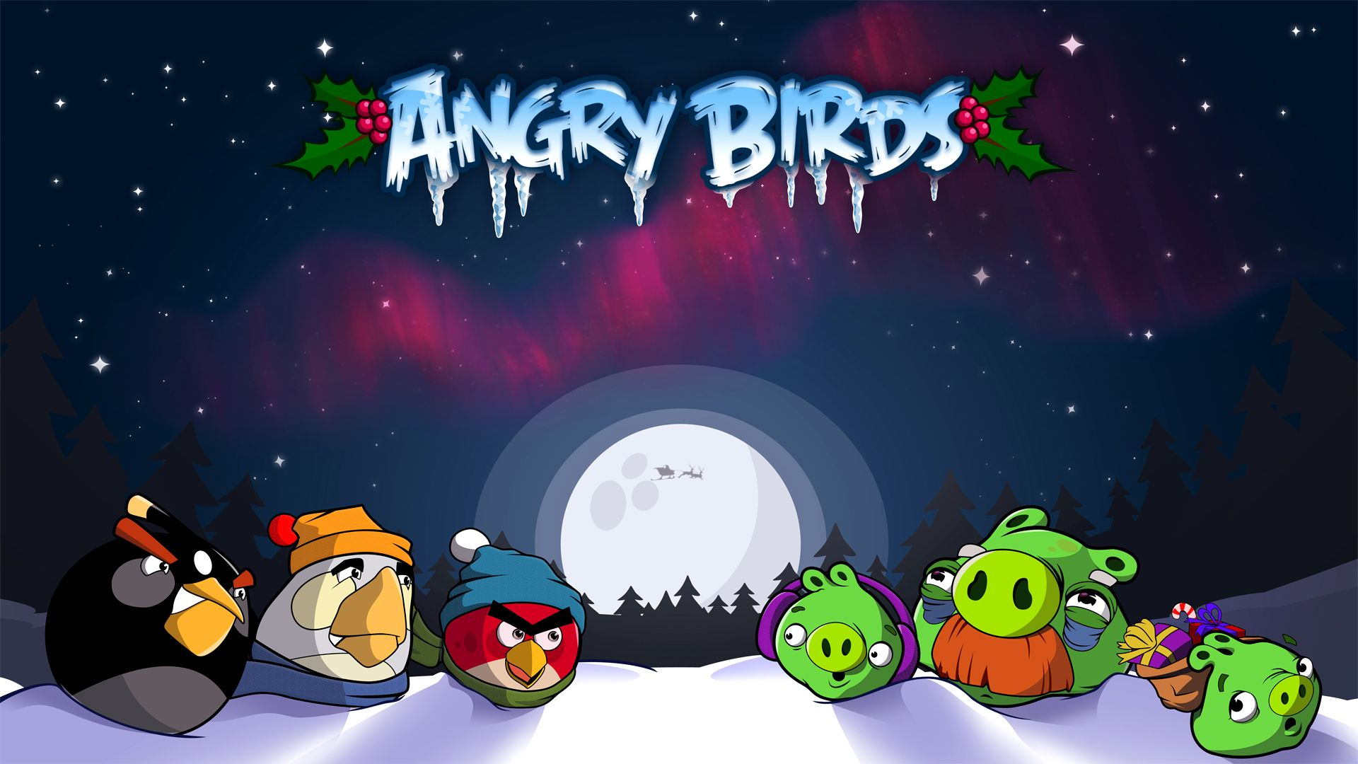 Download The Latest angry birds christmas Wallpapers ...