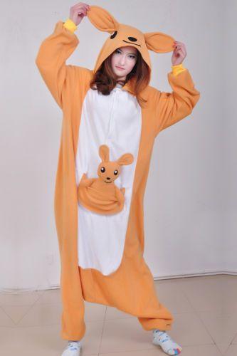 Women Men Unisex Adult Onesie0 Animal Kangaroo Kigurumi Pajama Cosplay Costume